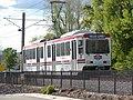 TRAX car beyond Draper Town Center station, Apr 15.jpg