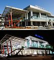 TRA Liujia Station daytime and night scene 20080803.jpg