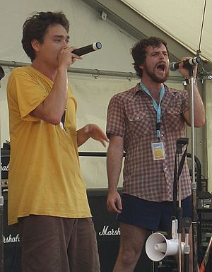 TZU - TZU (Joelistics, left, and Seed MC, right) performing at the Melbourne Big Day Out in 2006