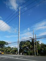 115,000 volt pole, Philippines