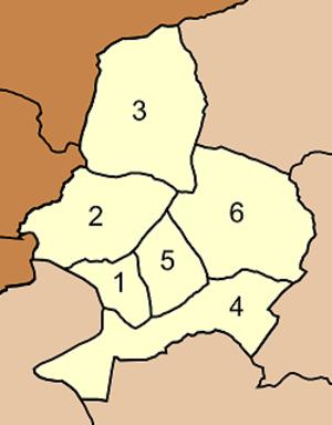 Nong Muang District - Map of tambon