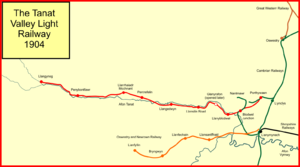 Tanat Valley Light Railway - The Tanat Valley Light Railway system