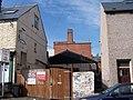 Taplin Road Garage and Simpkins Chimney, Taplin Road, Hillsborough, Sheffield - geograph.org.uk - 1653076.jpg