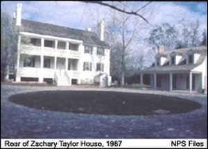 Zachary Taylor House - The rear side of the home