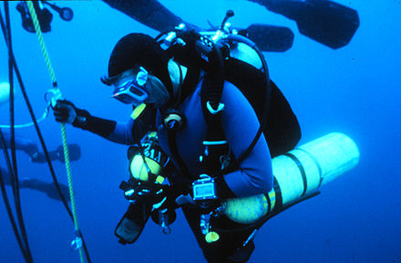 Technical diver during a decompression stop TechDiving NOAA.jpg