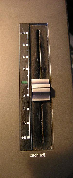 Pitch control - Technics SL-1210MK2 turntable pitch control slider