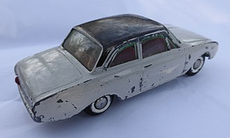 Tekno (toy manufacturer) - An early Tekno German Ford Taunus with typical two-part wheels.
