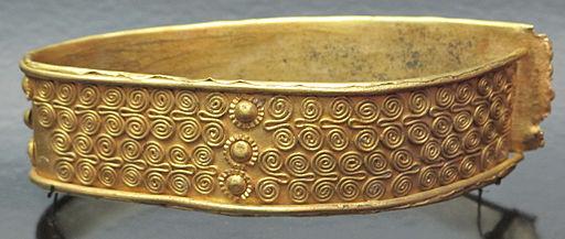 Tesoro di priamo, bracciale lamellare con decorazione a spirale, dal tesoro F, oro, cat. 123