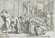 Pietro Testa (1611–1650): The Drunken Alcibiades Interrupting the Symposium (1648).