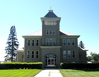 Teton County, Montana - The county courthouse in Choteau