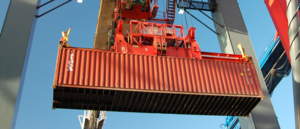 Textainer Group Holdings - Textainer 40 foot container being loaded