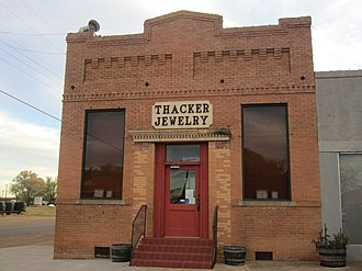 Roaring Springs, Texas - The Thacker Jewelry Company in Roaring Springs is a manufacturing and retail outlet still in production. There is also a larger Thacker's store in Lubbock.