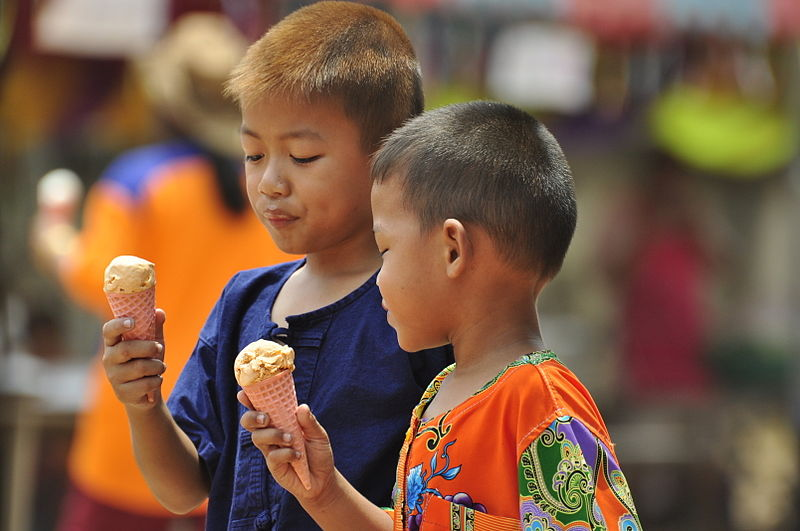 File:Thai boys eating icecream.jpg