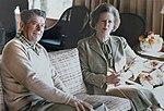 Thatcher Reagan Camp David sofa 1984.jpg