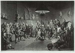 Richard Earlom - 'The Academicians of the Royal Academy (1773), after mezzotint by Johan Joseph Zoffany