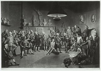 Richard Earlom - 'The Academicians of the Royal Academy (1773), after mezzotint by Johan Joseph Zoffany
