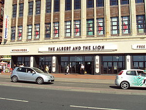 Marriott Edgar - The Albert and the Lion pub, on Blackpool Promenade, near to the Tower