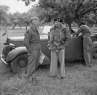 Douglas Graham (British Army officer) - General Sir Bernard Montgomery in conversation with Major General Douglas Graham, GOC 50th (Northumbrian) Infantry Division, pictured here in Normandy, 20 June 1944.