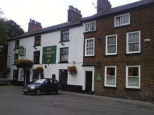 Prestwich - The Church Inn (formerly the Ostrich Inn) next to St Mary's Church