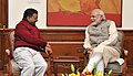 The Delhi Chief Minister-designate, Shri Arvind Kejriwal calls on the Prime Minister, Shri Narendra Modi, in New Delhi on February 12, 2015 (2).jpg