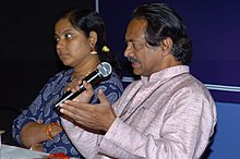 The Director Girish Kasaravalli and the National Award Winner Actress of film 'Hasina', Tara at a Press Conference during the ongoing 36th International Film Festival of India – 2005 in Panaji, Goa on December 3, 2005.jpg
