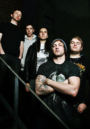 The Divided - From left: Laurien Woodgate (Former Member), Sam Hewgill, Alex Prior (Former Member), Johnny Lee Weston, Dan O'Driscoll (Former Member)