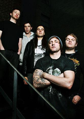 The Divided - From left: Laurien Woodgate (Former Member), Sam Hewgill, Alex Prior (Former Member), Johnny Lee Weston, Dan O'Driscoll (Former Member)