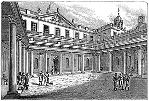 The Exchange, Bristol - The Courtyard (1822) engraving