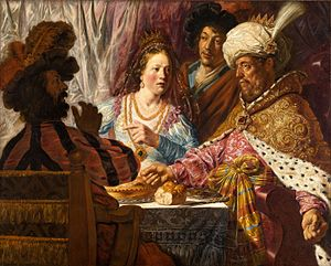 Book of Esther - The Feast of Esther (Feest van Esther, 1625) by Jan Lievens, held at the North Carolina Museum of Art.