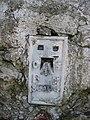 The Flush Bracket on the Moel Morfydd Trig Pillar - geograph.org.uk - 362661.jpg