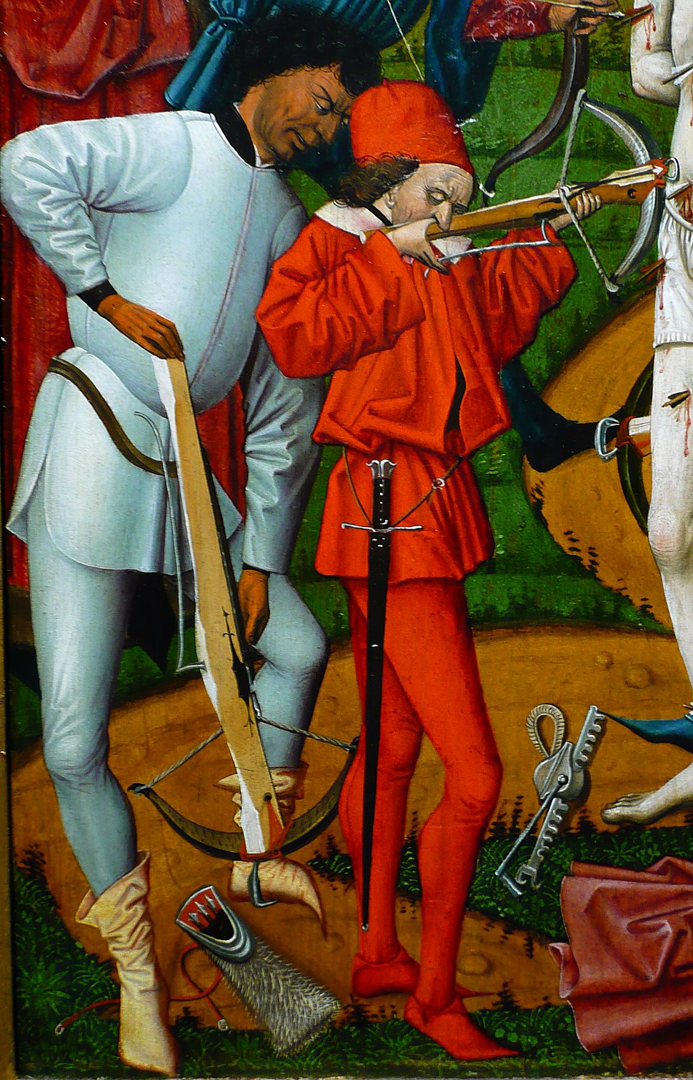 The Martyrdom of St Sebastian (detail)