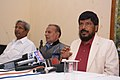 The Minister of State for Social Justice & Empowerment, Shri Ramdas Athawale addressing a press conference, in Jaipur on January 03, 2017.jpg