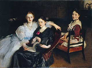 <i>The Misses Vickers</i> painting by John Singer Sargent