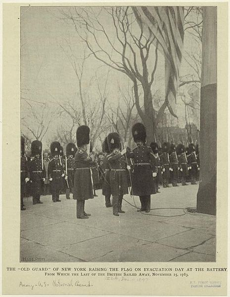 File:The Old Guard of New York raising the flag on Evacuation Day.jpeg