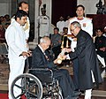 The President, Shri Pranab Mukherjee presenting the Padma Bhushan Award to Shri Saichiro Misumi, at a Civil Investiture Ceremony, at Rashtrapati Bhavan, in New Delhi on March 30, 2015.jpg