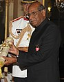 The President, Smt. Pratibha Devisingh Patil presenting the Padma Bhushan Award to Shri Shyam Saran, at an Investiture Ceremony II, at Rashtrapati Bhavan, in New Delhi on April 01, 2011 (cropped).jpg