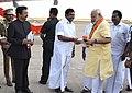 The Prime Minister, Shri Narendra Modi emplanes for Delhi after attending various programmes, at Rameswaram, Tamil Nadu.jpg