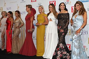 The Real Housewives of Melbourne - The cast at the 2016 Logie Awards.