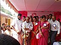 The Red Ribbon Express, a nationwide anti AIDS awareness campaign on rail was accorded a colourful welcome when it reached Alwaye Railway station, Kerala. Justice Shri K. Sukumaran (Rtd) Inaugurates the Exhibition at Alwaye.jpg