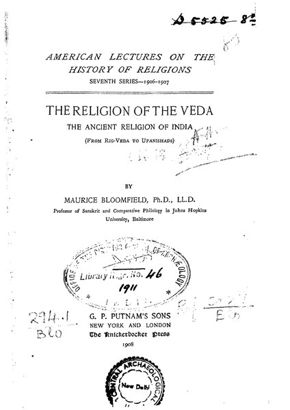 File:The Religion of the Veda.djvu