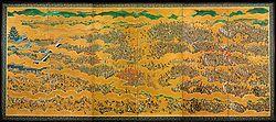The Siege of Osaka Castle, 17th century.