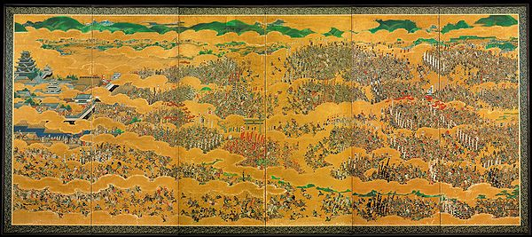 The Summer Battle of Osaka Castle (1614–15), 17th century Japanese painting