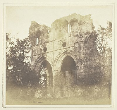 Tomb of Walter Scott, in Dryburgh Abbey by Henry Fox Talbot, 1844 The Tomb of Sir W. Scott, in Dryburgh Abbey by Henry Fox Talbot.jpg