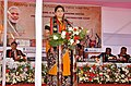 The Union Minister for Textiles, Smt. Smriti Irani addressing at the inauguration of the Apparel and Garment Making Centre, in Imphal, Manipur on November 27, 2016.jpg