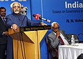 The Vice President, Shri M. Hamid Ansari addressing the function after releasing the book 'Safeguarding India' written by the Governor of Jammu and Kashmir, Shri N.N. Vohra, in New Delhi on March 12, 2016.jpg