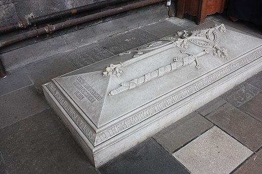 The grave of Robert III, Paisley Abbey