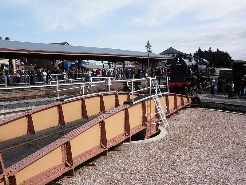 File:The turntable, West Somerset Railway, Minehead - geograph.org.uk - 1766271.jpg