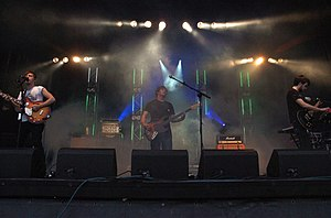 The Automatic - The Automatic performing at Barry Waterfront festival in 2009, where they showcased various new tracks from Tear the Signs Down