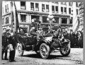 Theodore Roosevelt and University of Washington president Kane in parade, April 6, 1911 (MOHAI 7302).jpg