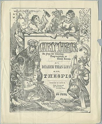 Programme from the original run of Thespis by ...